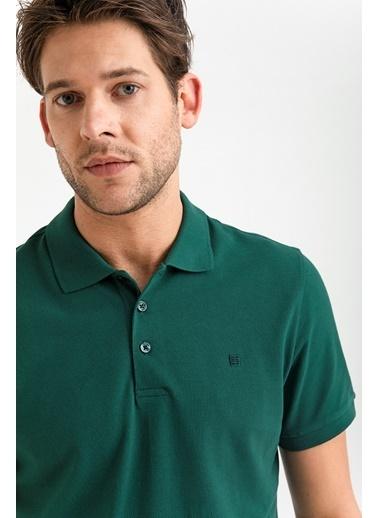 Avva Erkek  Polo Yaka Düz  Tişört A01B1175 Yeşil